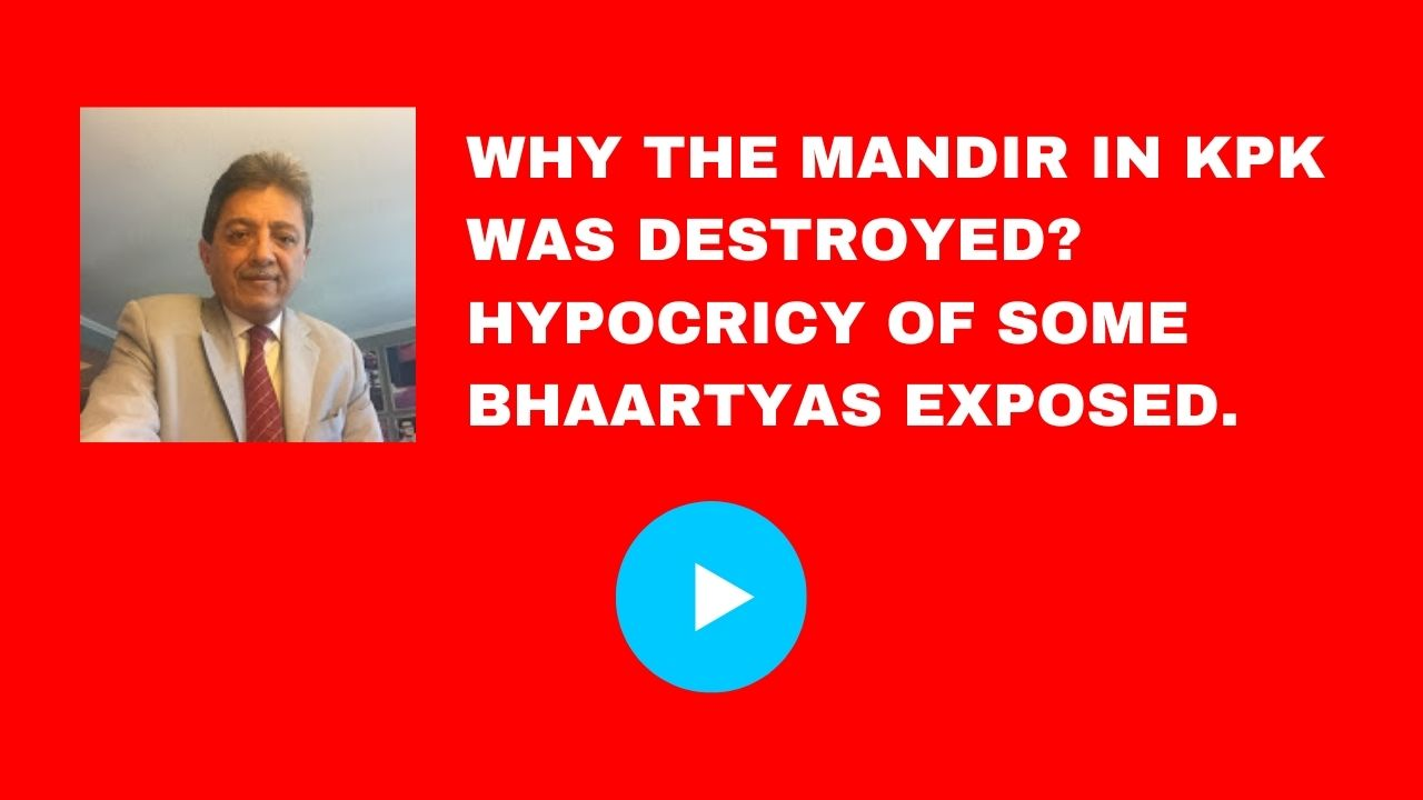 Why the Mandir in KPK was destroyed? Hypocricy of some Bhaartyas exposed.
